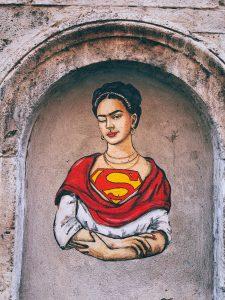 Frida Kahlo as superwoman