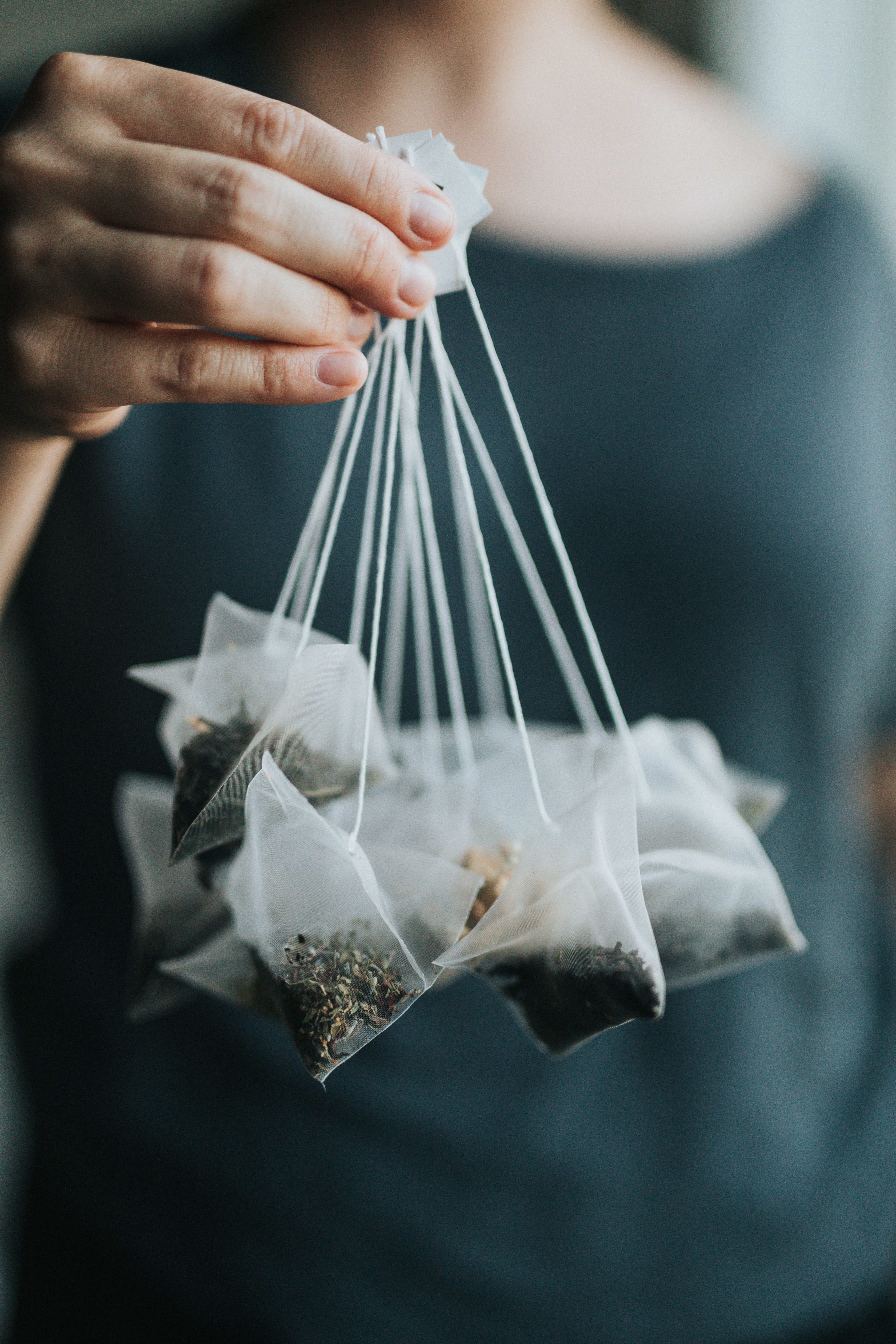 Fancy tea bags are made of plastic
